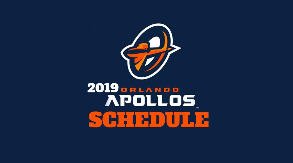 AAF Football: Orlando Apollos Schedule 2019