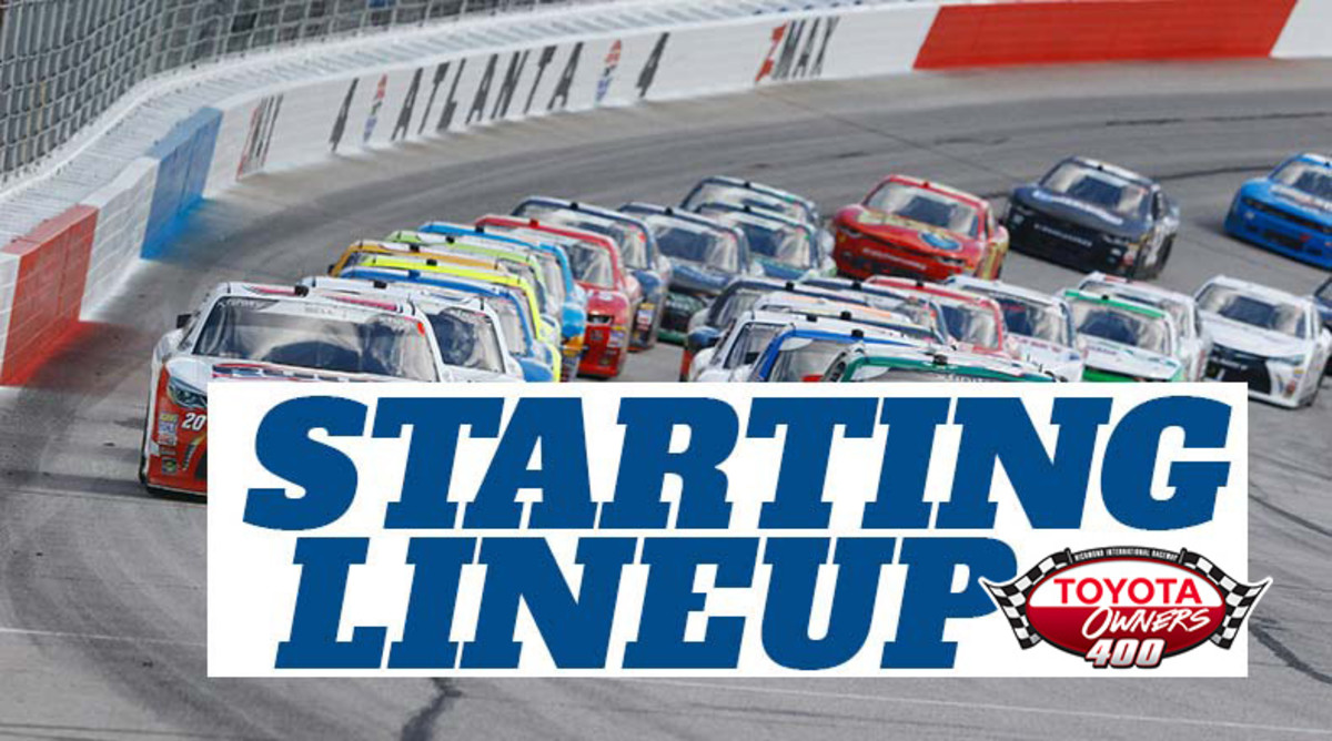 NASCAR Starting Lineup for Sunday's Food City 500 at Bristol Motor Speedway