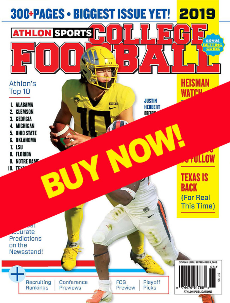 College Football Magazine with Oregon Cover