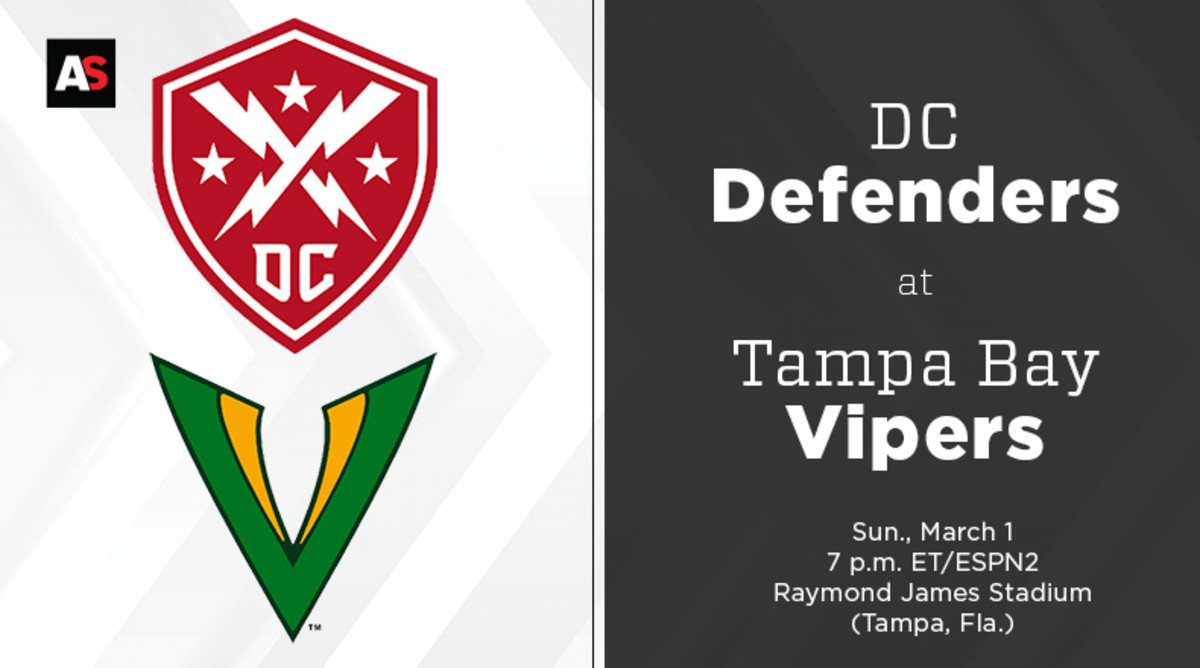 DC Defenders vs. Tampa Bay Vipers Prediction and Preview (XFL Football)