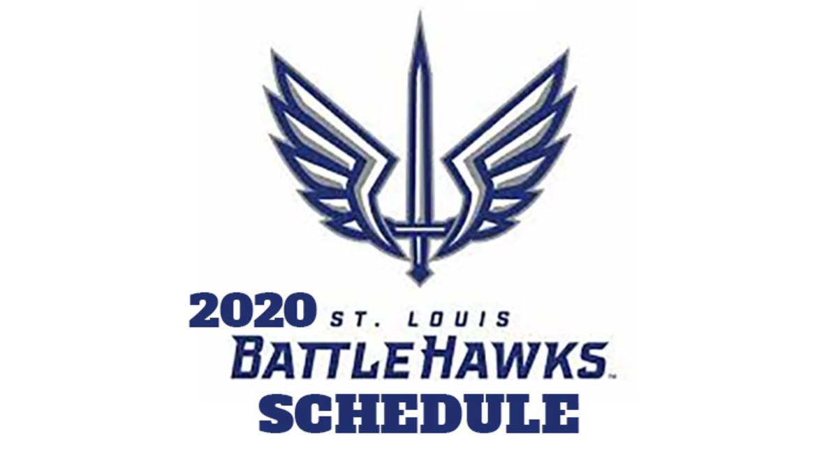 St. Louis BattleHawks 2020 Schedule (XFL Football)