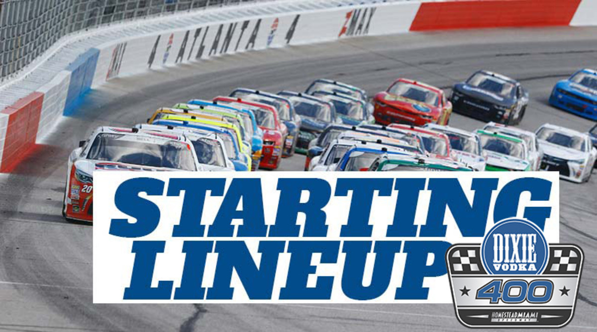 NASCAR Starting Lineup for Sunday's Dixie Vodka 400 at Homestead-Miami Speedway