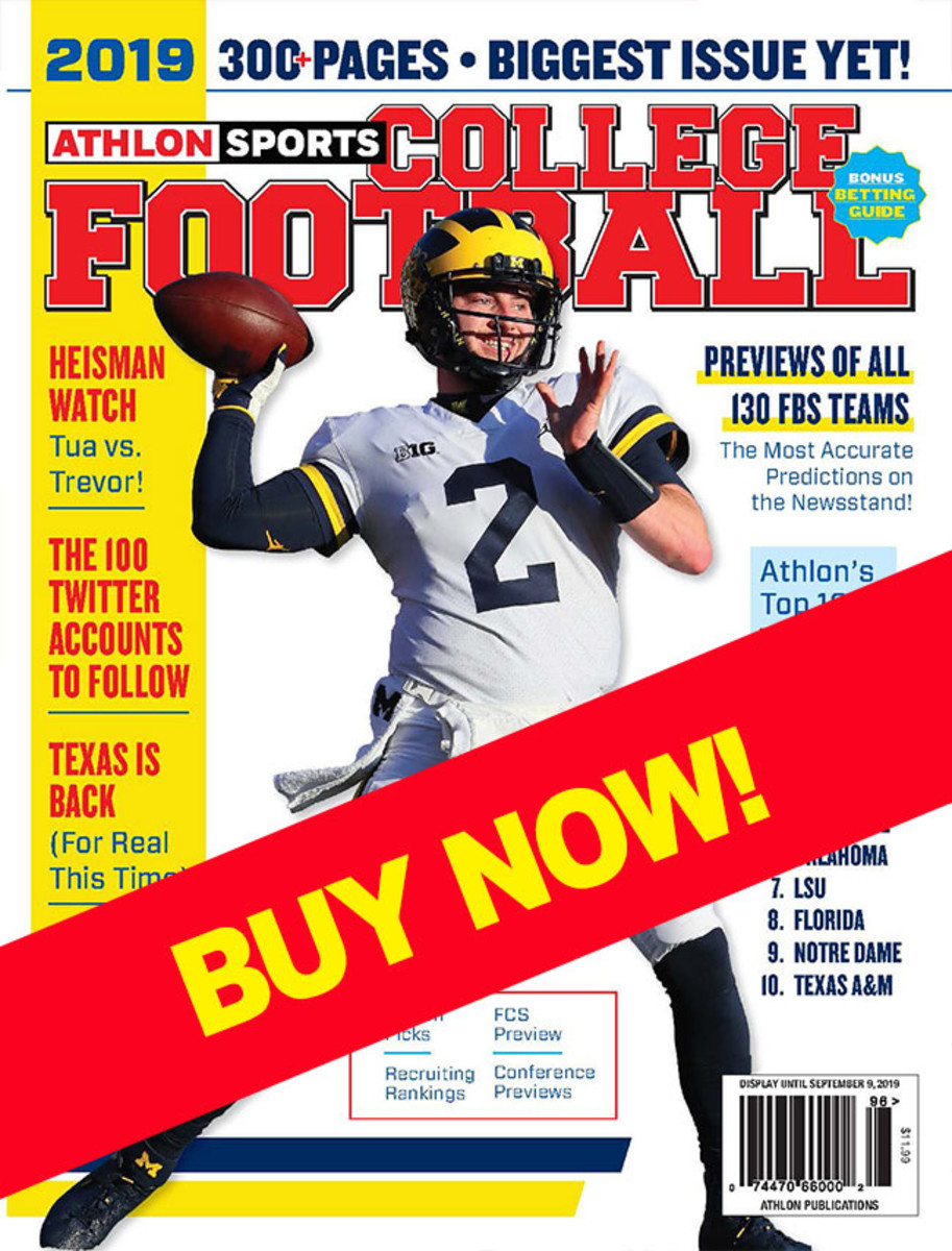 College Football 2019 magazine with Michigan cover