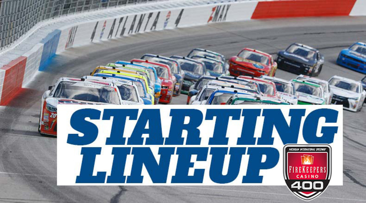NASCAR Starting Lineup for Sunday's FireKeepers Casino 400 at Michigan International Speedway
