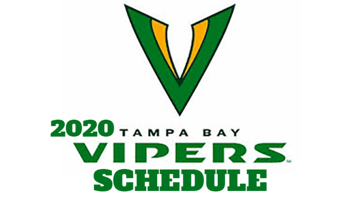 Tampa Bay Vipers 2020 Schedule (XFL Football)