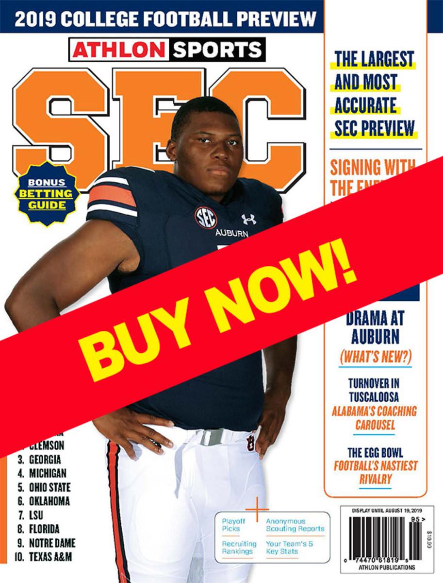 Athlon Sports SEC Magazine with Auburn cover