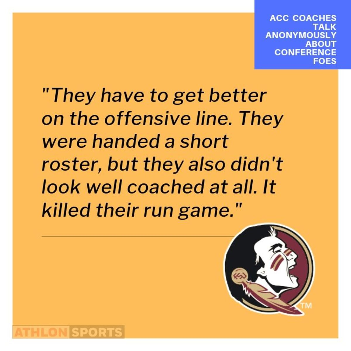 Anonymous Coach talk for the ACC and FSU