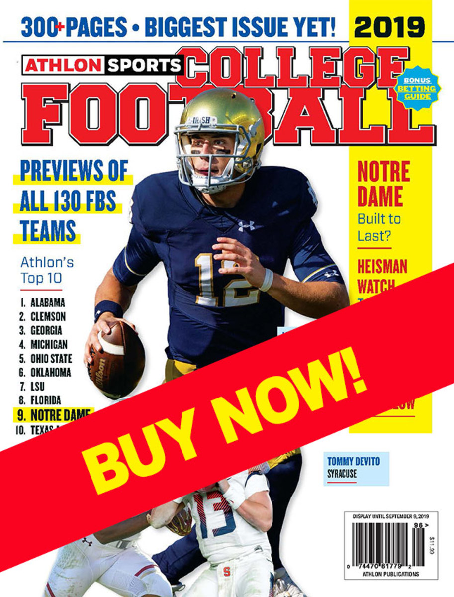 College Football preseason magazine 2019 with Notre Dame cover