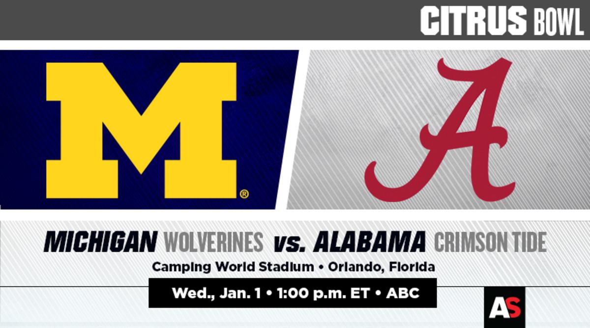 Citrus Bowl Prediction and Preview: Michigan Wolverines vs. Alabama Crimson Tide