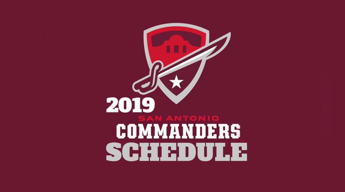 San Antonio Commanders Schedule 2019