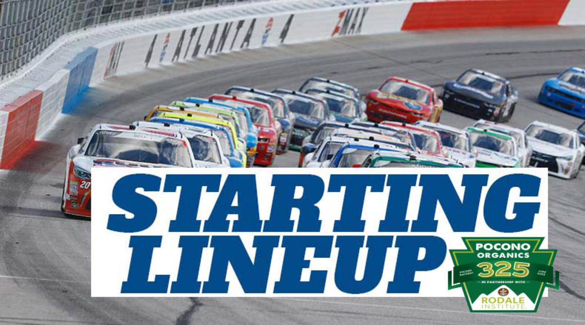 NASCAR Starting Lineup for Saturday's Pocono Organics 325 at Pocono Raceway