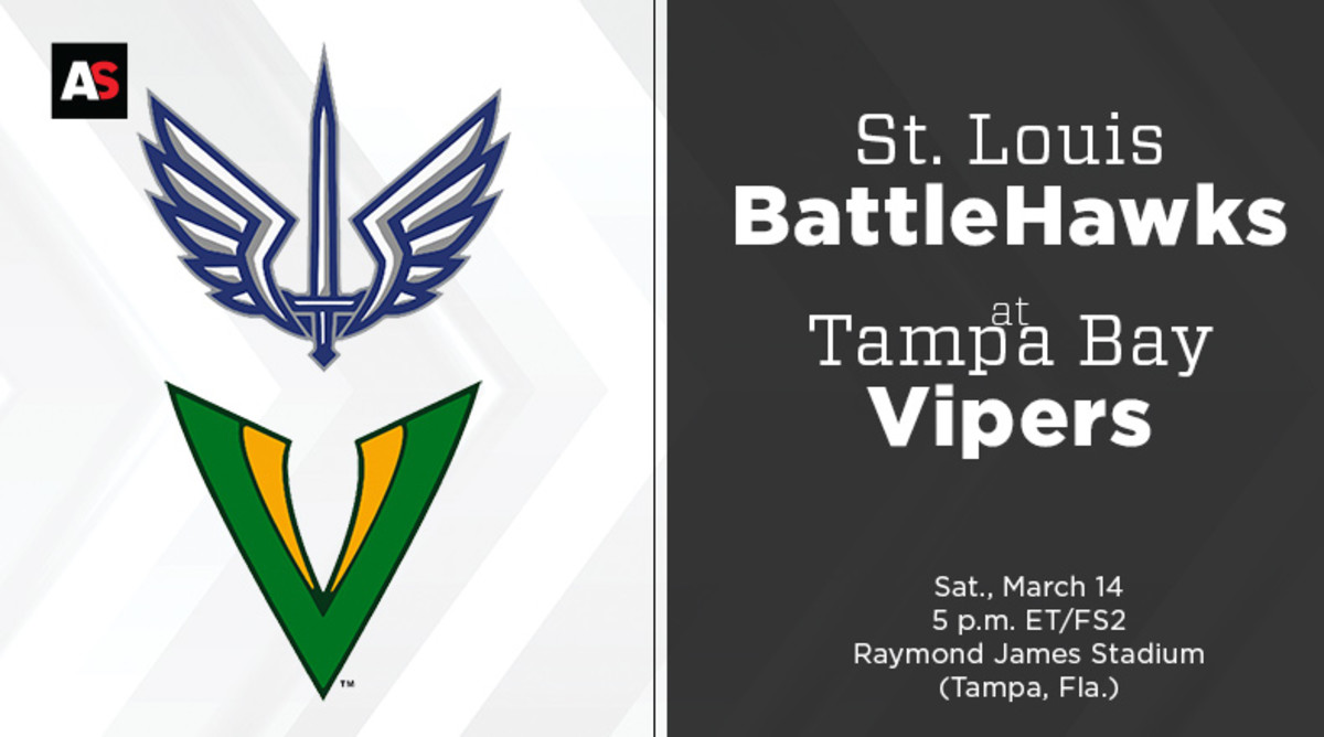 St. Louis BattleHawks vs. Tampa Bay Vipers Prediction and Preview (XFL Football)