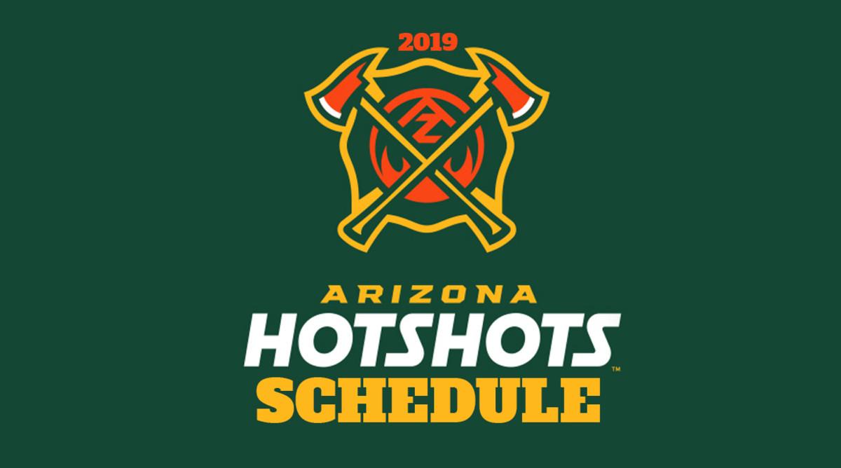 AAF Football: Arizona Hotshots Schedule 2019
