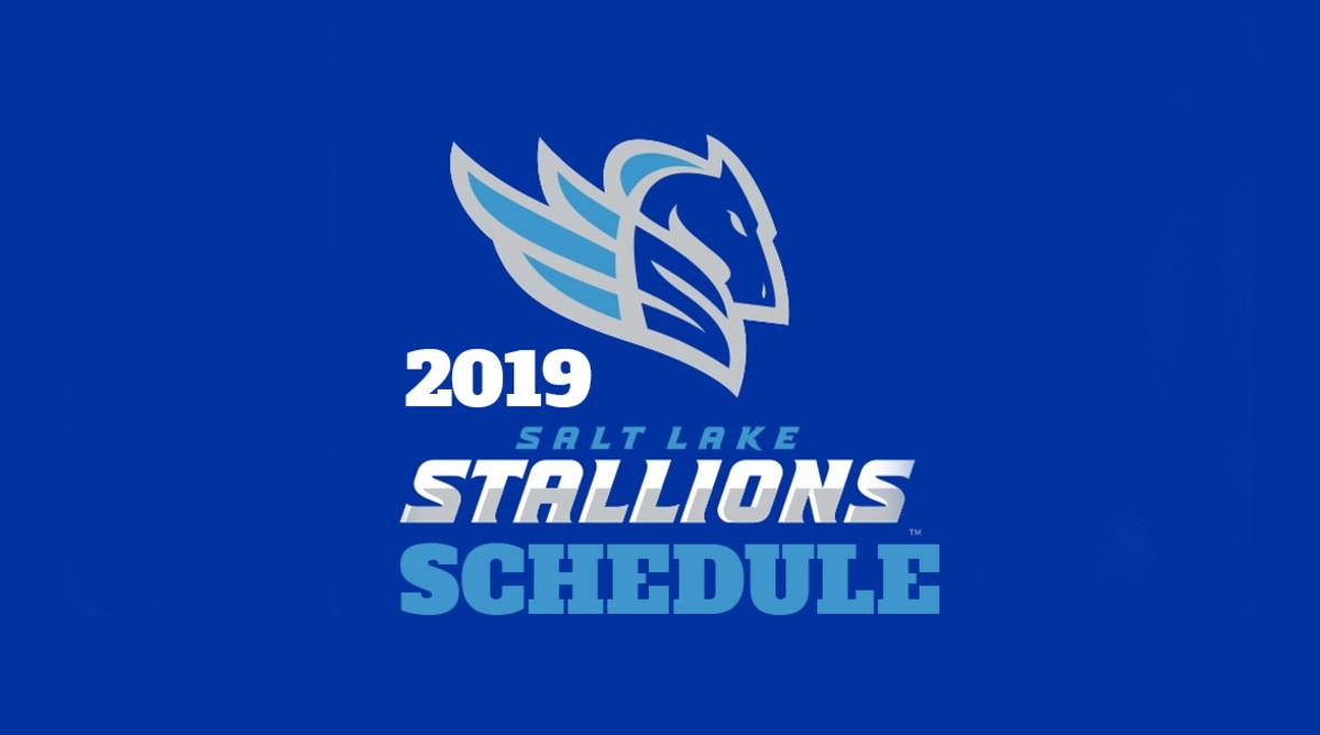 AAF Football: Salt Lake Stallions Schedule 2019
