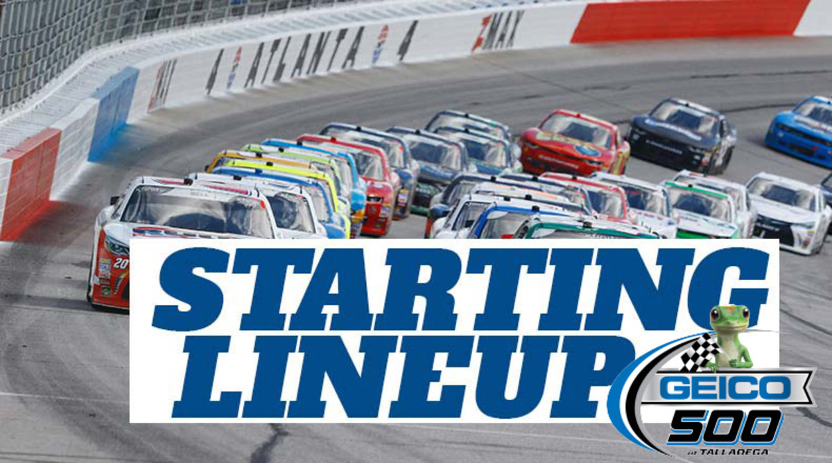 NASCAR Starting Lineup for Sunday's GEICO 500 at Talladega Superspeedway