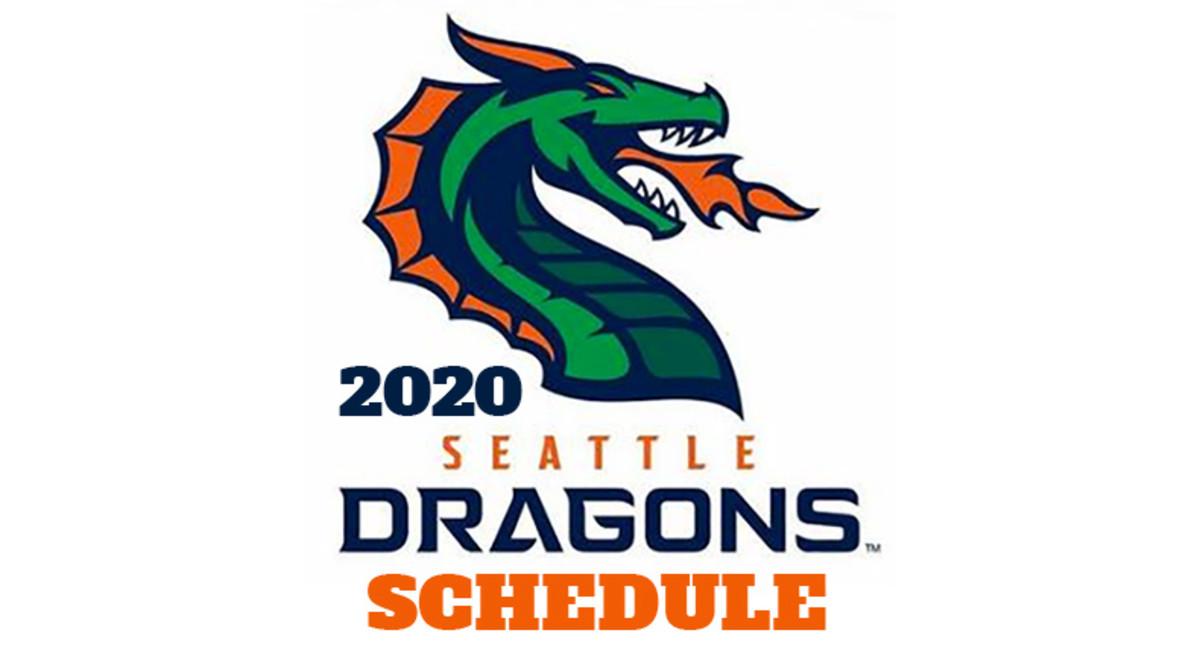 Seattle Dragons 2020 Schedule (XFL Football)