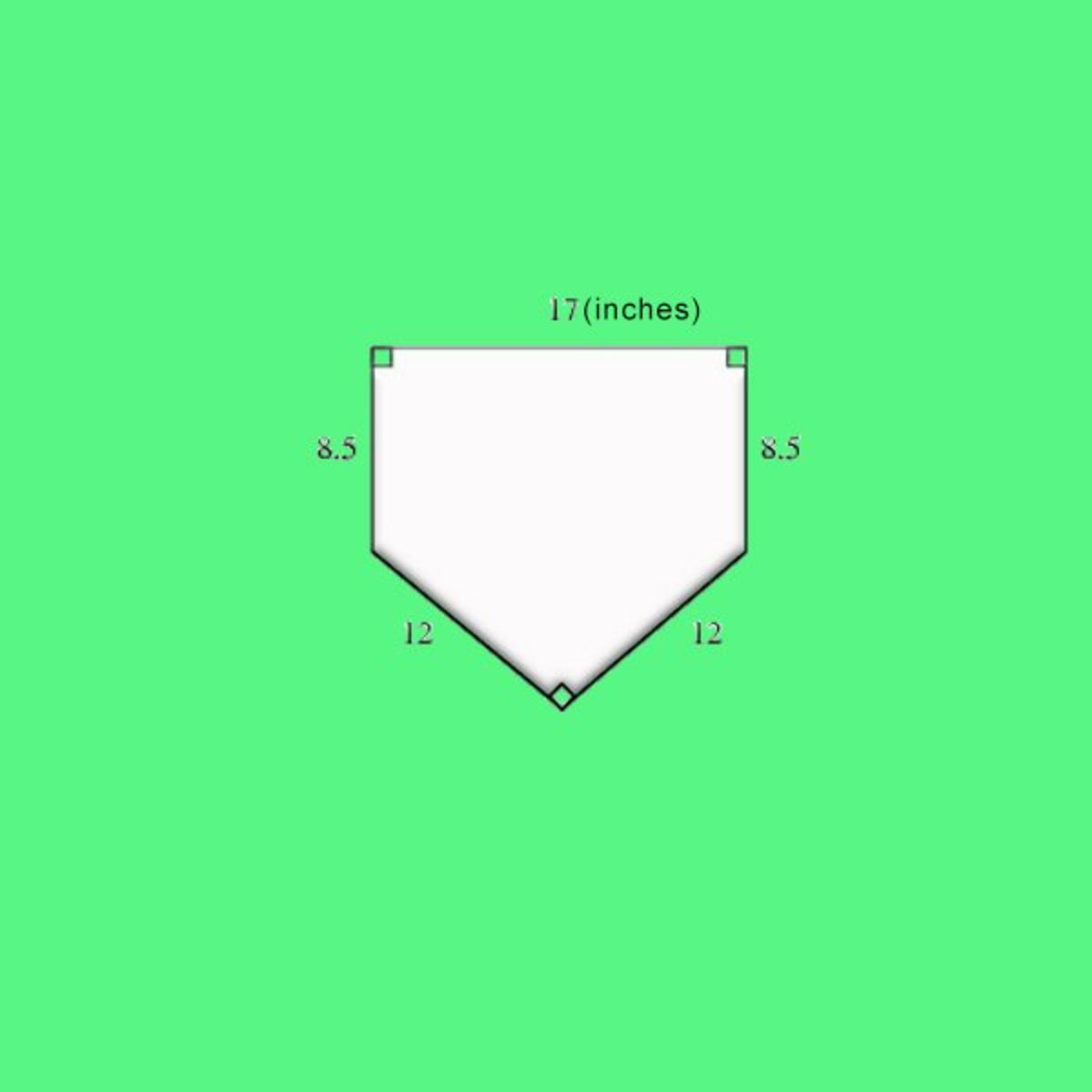 Dimensions for Home Plate in baseball