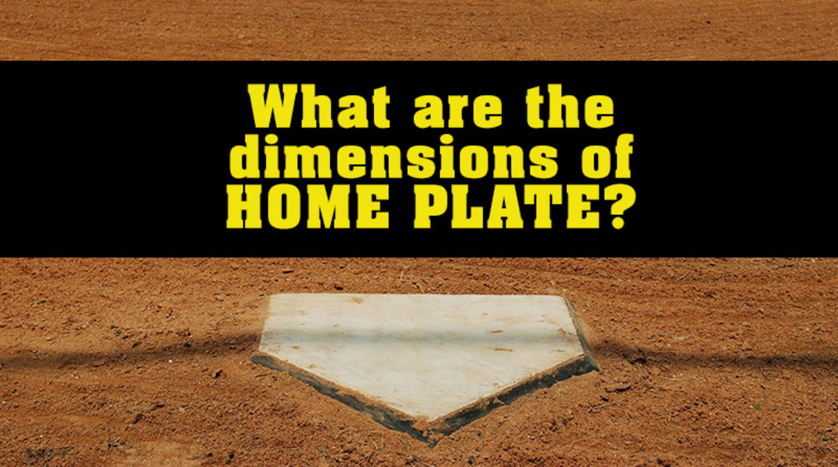 What are the dimensions of home plate?