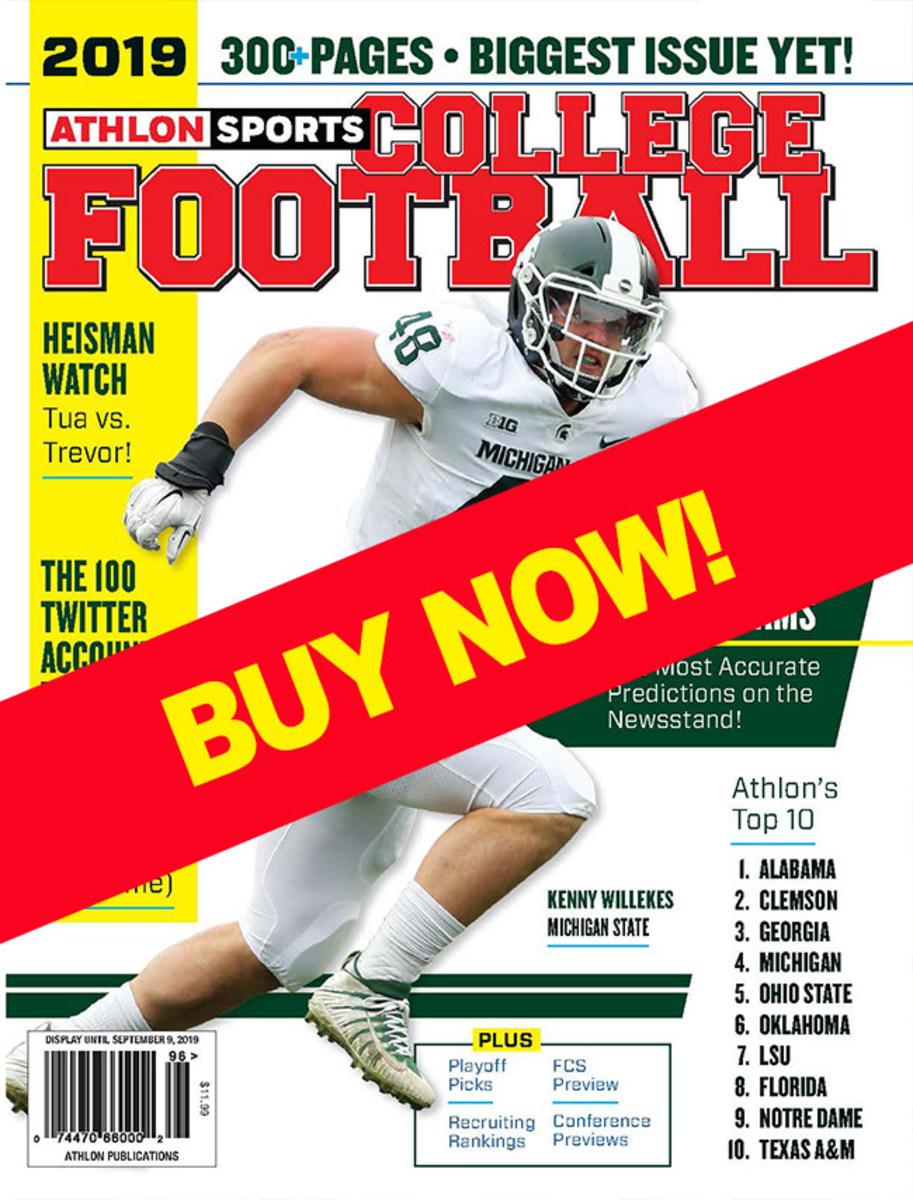 College football magazine Michigan State cover