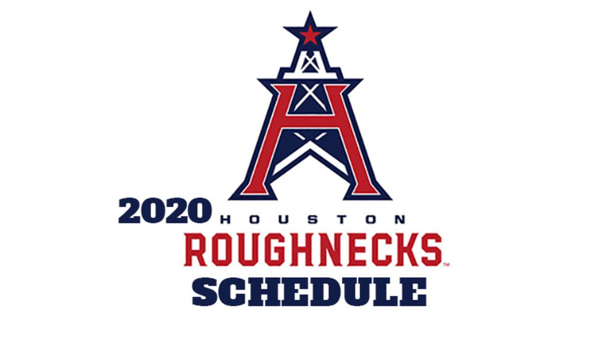 Houston Roughnecks 2020 Schedule (XFL Football)