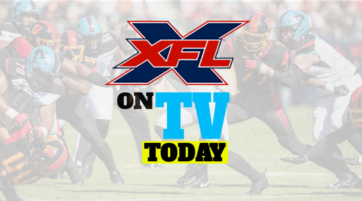 XFL Football Games on TV Today (Sunday, March 1)