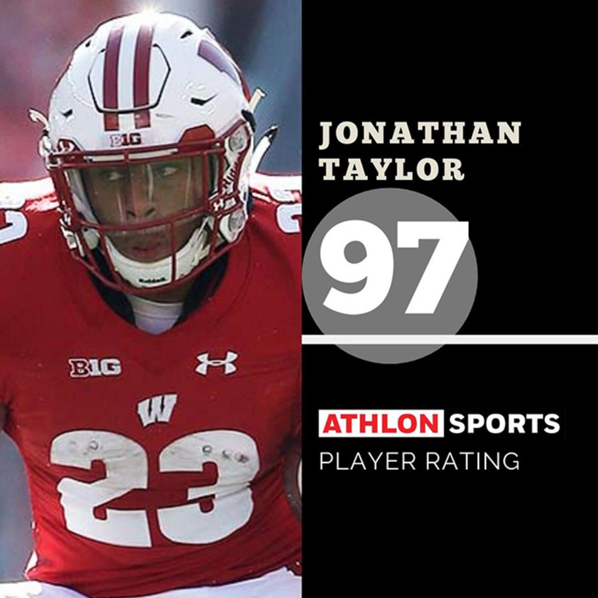 Jonathan Taylor, Wisconsin, Madden rating