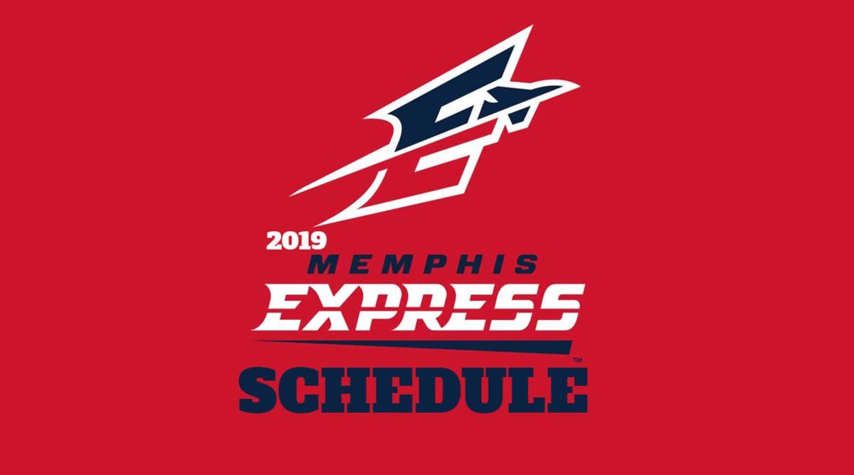 AAF Football: Memphis Express Schedule 2019