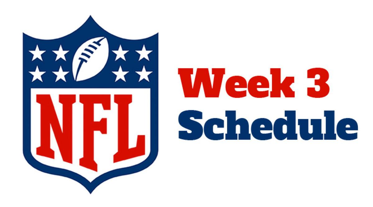 NFL Week 3 Schedule 2021