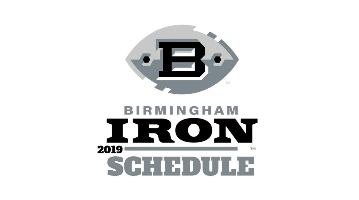 AAF Football: Birmingham Iron Schedule 2019