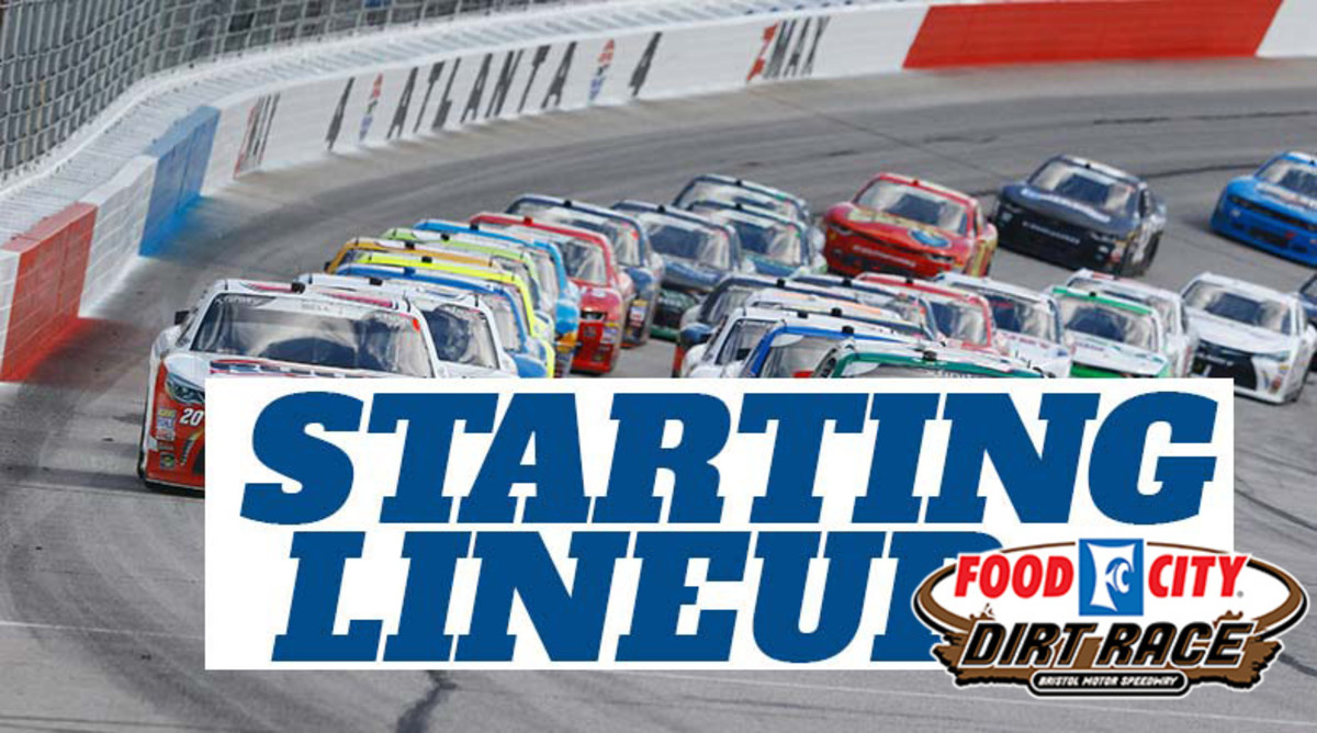 NASCAR Starting Lineup for Monday's Food City Dirt Race at Bristol Motor Speedway
