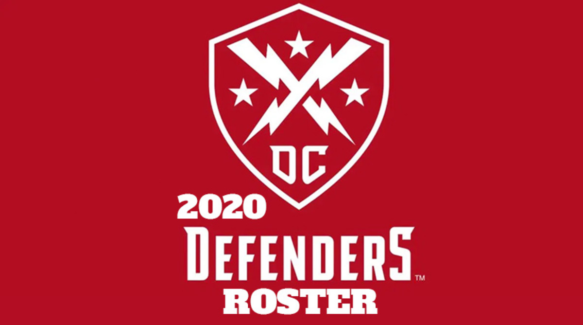 DC Defenders 2020 Roster (XFL Football)