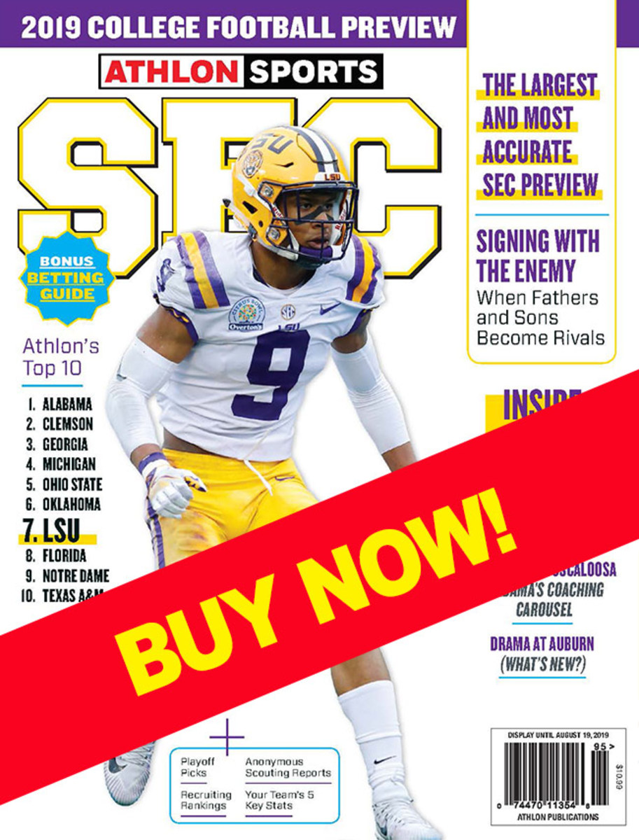 SEC Football magazine with LSU on the cover