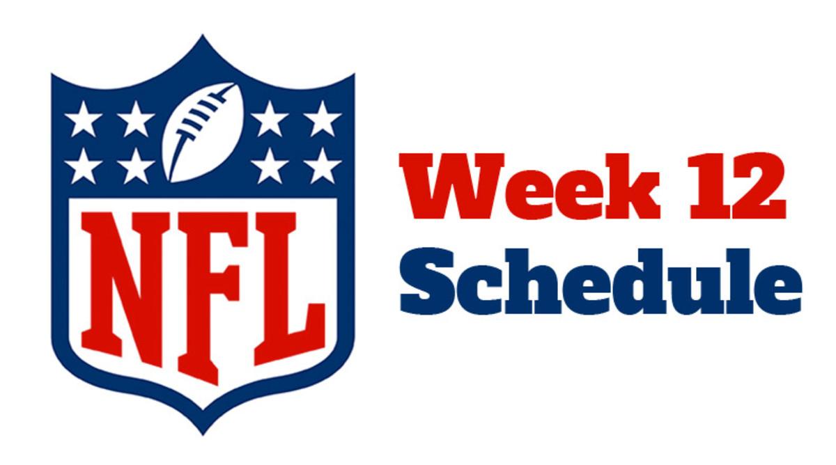 NFL Week 12 Schedule 2021