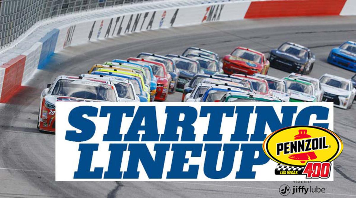 NASCAR Starting Lineup for Sunday's Pennzoil 400 at Las Vegas Motor Speedway