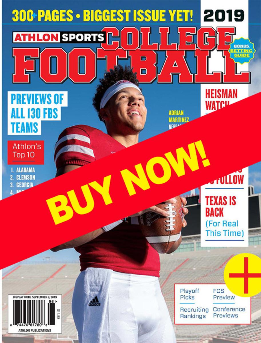 College Football Magazine with Nebraska cover