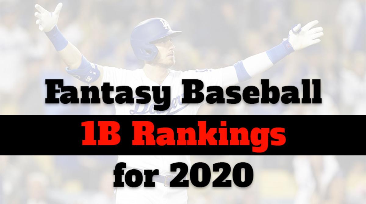 Fantasy Baseball Cheat Sheet: First Base Rankings for 2020