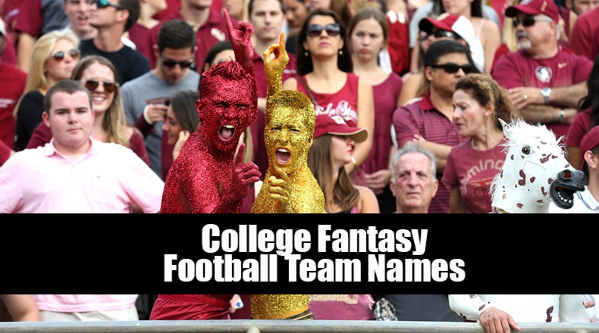 College Fantasy Football Team Names