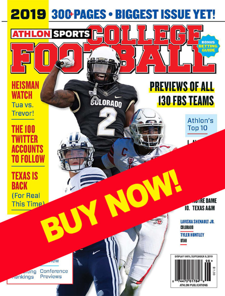 College Football magazine with BYU, Colorado and Utah cover