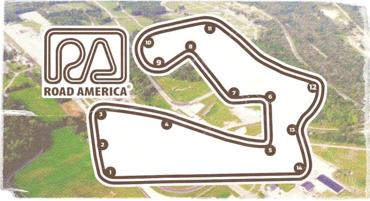 Road America map