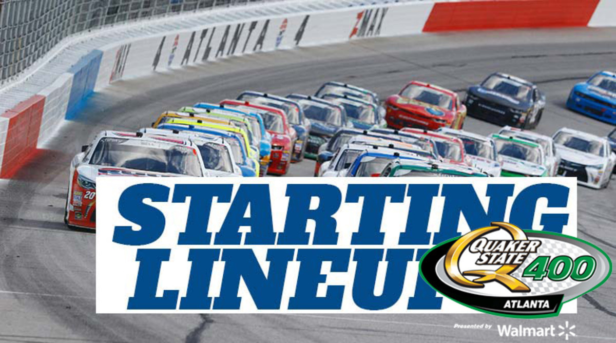 NASCAR Starting Lineup for Quaker State 400 at Atlanta Motor Speedway