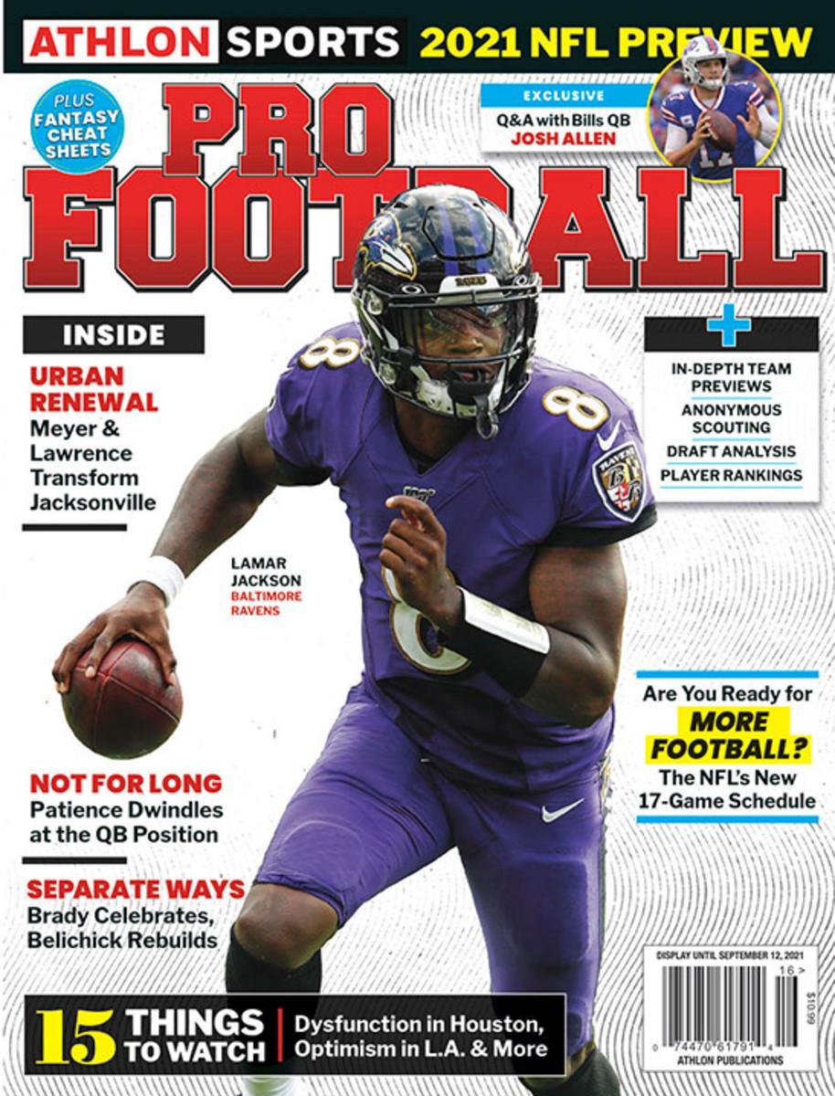 Athlon Sports' 2021 Pro Football Magazine - Baltimore Ravens