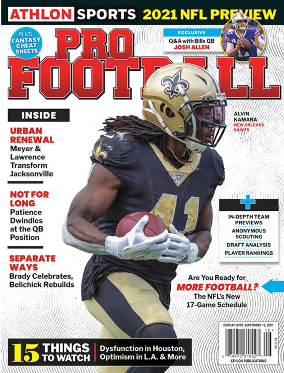 Athlon Sports' 2021 Pro Football Magazine - New Orleans Saints