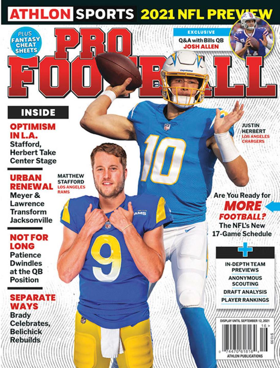 Athlon Sports' 2021 Pro Football Magazine - Los Angeles Chargers/Los Angeles Rams
