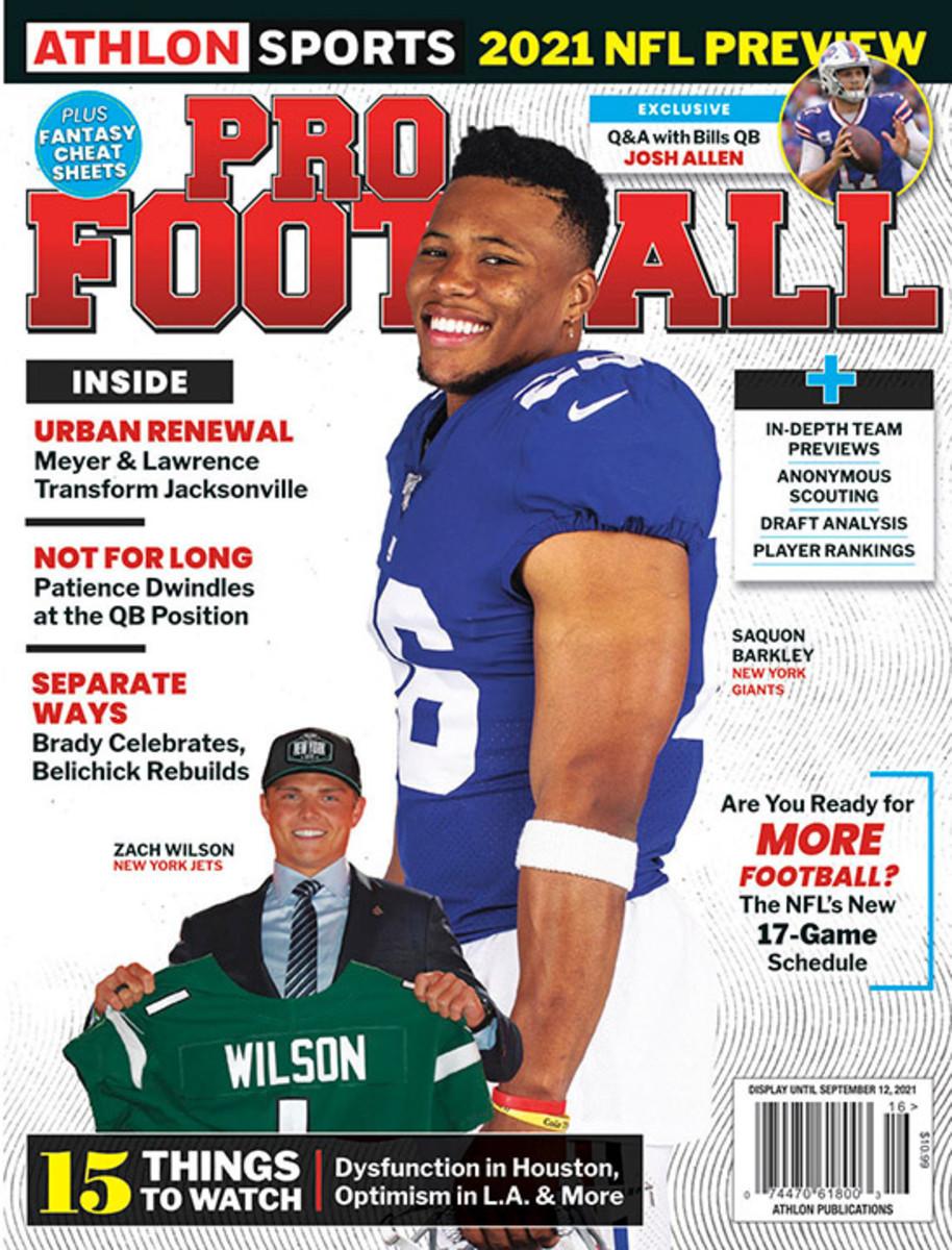 Athlon Sports' 2021 Pro Football Magazine - New York Giants/New York Jets