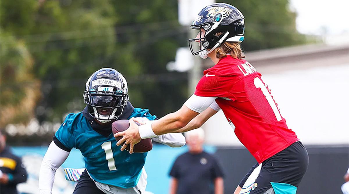 Travis Etienne and Trevor Lawrence, Jacksonville Jaguars