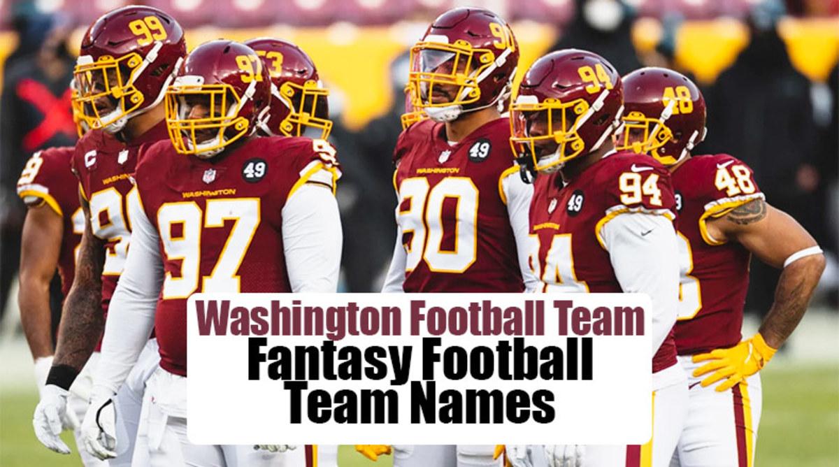 Washington Football Team Fantasy Football Team Names